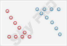 17 - Схема расположения точечных светильников на натяжном потолке