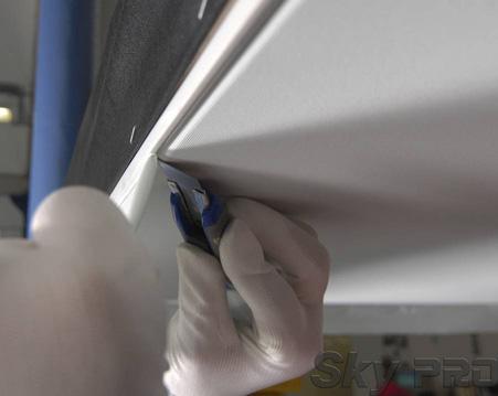 Монтаж и установка тканевых натяжных потолков - быстро и чисто