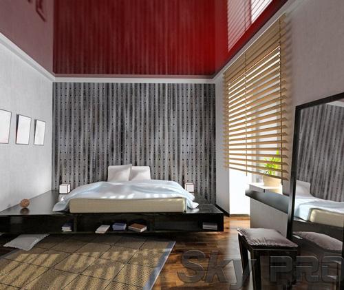 Установка натяжного потолка в спальне в Гдове